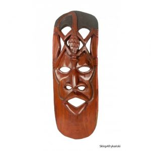 Maska afrykańska z mahoniu z plemienia Czewa